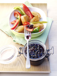 Chicken Breast with Sweet & Sour Wild Blueberry Sauce Picture