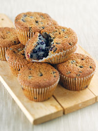 Double Blue Wild Blueberry Cupcakes Picture