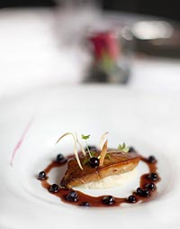 Foie Gras Cutlets with Wild Blueberry Sauce Picture