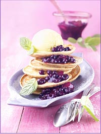 Buckwheat Pancakes with Wild Blueberry Apple Compote Picture