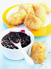Coconut Banana Nuggets with Wild Blueberry Sauce Picture