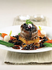 Filet Mignon with Wild Blueberry Port Sauce Picture