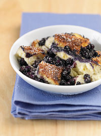Wild Blueberry Bread Pudding Picture