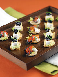 Wild Blueberry Canapés Picture