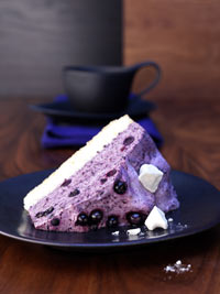 Wild Blueberry Cassis Mousse Cake Picture