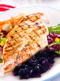 Grilled Chicken Breast with Wild Blueberry Grape Sauce Picture