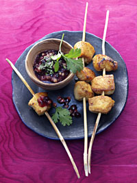 Tandoori Chicken Sticks with Wild Blueberry Fig Sauce Picture