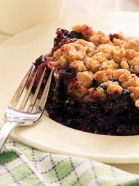 Wild Blueberry Crisp Picture