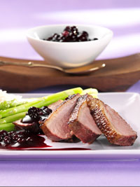 Duck Breast with Wild Blueberry Sauce Picture