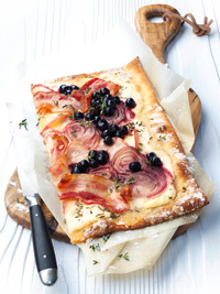 Flammkuchen with Wild Blueberries Picture