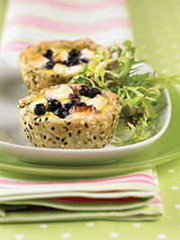Goat Cheese Tart with Caramelized Onions and Wild Blueberries Picture