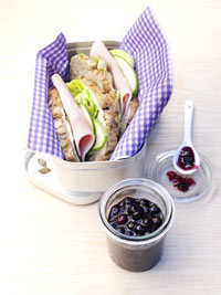 Ham Sandwich with Wild Blueberry Mustard Picture