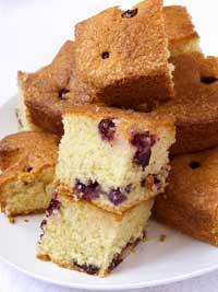 Lemon Glazed Wild Blueberry Cake Picture