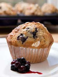 Wild Blueberry Applespice Muffins Picture