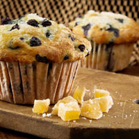 Wild Blueberry Gingered Lemon Muffins Picture