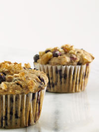 Wild Blueberry Walnut Bran Muffins Picture