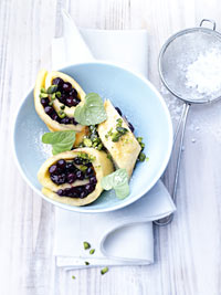 Sweet Wild Blueberry Omelet Rolls Picture