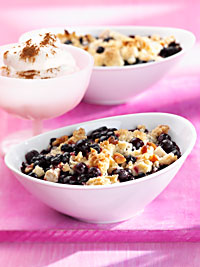 Wild Blueberry Pear Crumble Picture