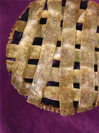 Wild Blueberry Pie Picture