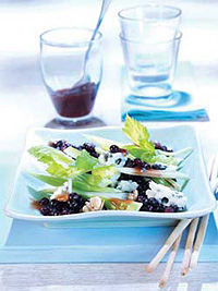 Wild Blueberries with Roquefort, Celery and Cumberland Sauce Picture