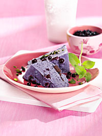 Wild Blueberry Mascarpone Semifreddo Picture