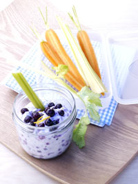 Veggie Sticks with Ricotta Wild Blueberry Dip Picture