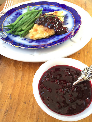 Lemony Wild Blueberry Sauce Picture