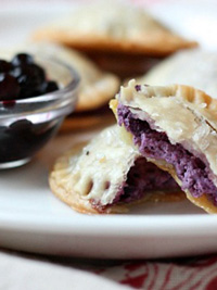 Wild Blueberry and Goat Cheese Hand Pies