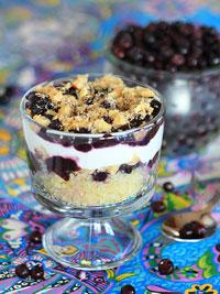 Warm Tropical Wild Blueberry Quinoa Breakfast Sundae