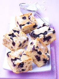 Wild Blueberry  & Walnut Blondies