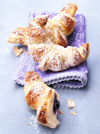 Marzipan-Blueberry Croissants