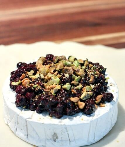 Wild Blueberry Baked Brie