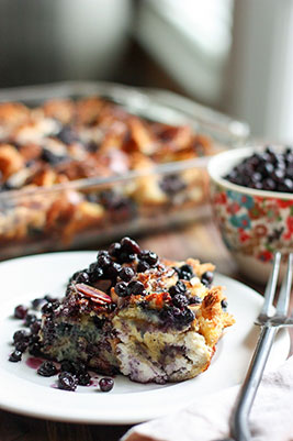 Wild Blueberry & Ricotta Stuffed French Toast Bake Picture