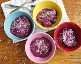 Frozen Wild Blueberry Pudding Picture