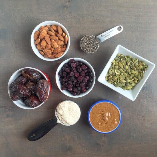Wild Blueberry Energy Bar Ingredients