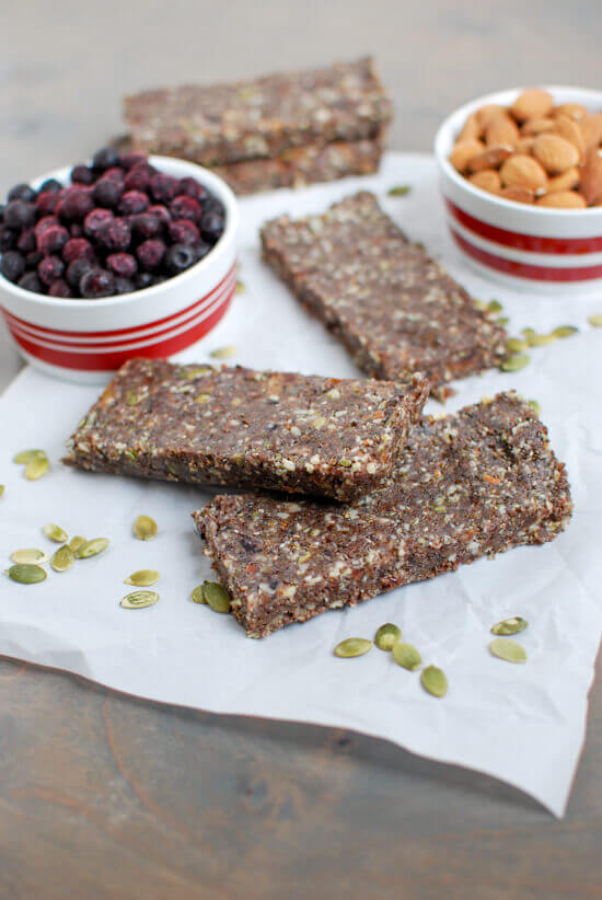Wild Blueberry Energy Bars Picture