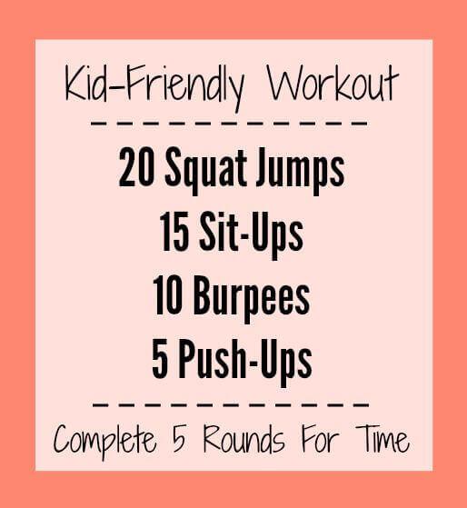 Kid Friendly Workout