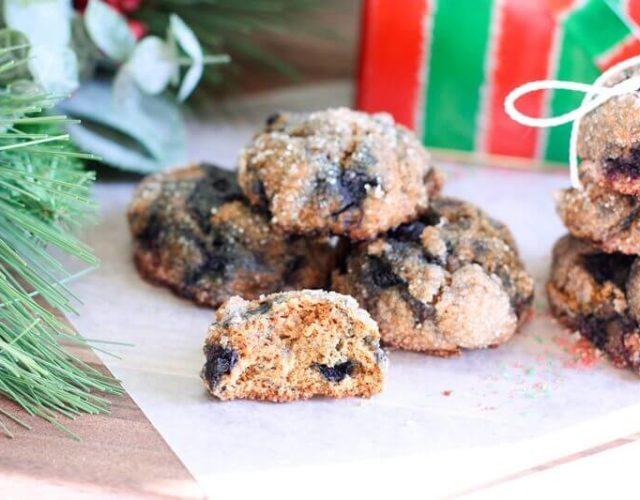 Wild Blueberry Molasses Cookies
