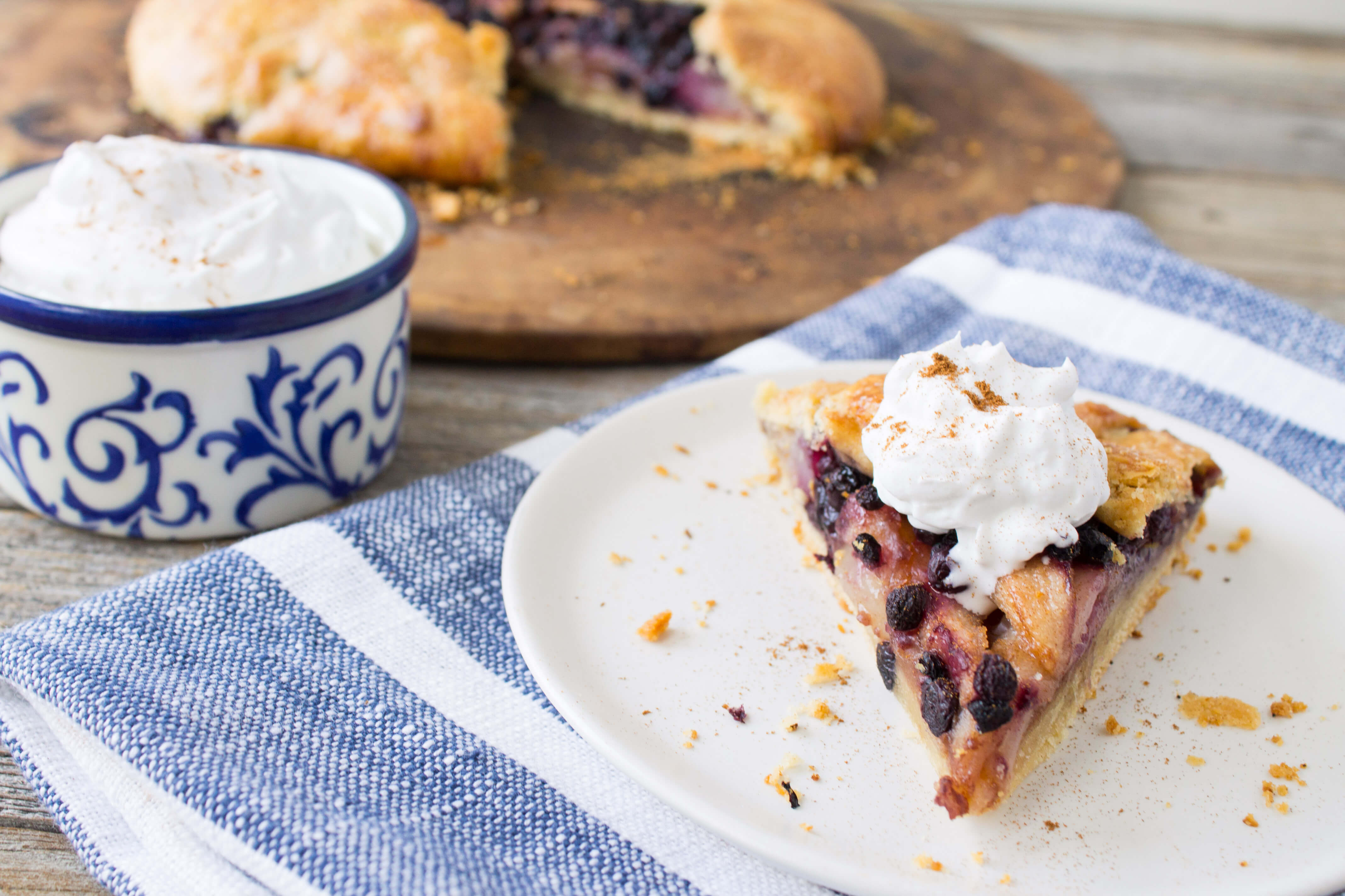 Wild Blueberry Pear Ginger Galette Picture