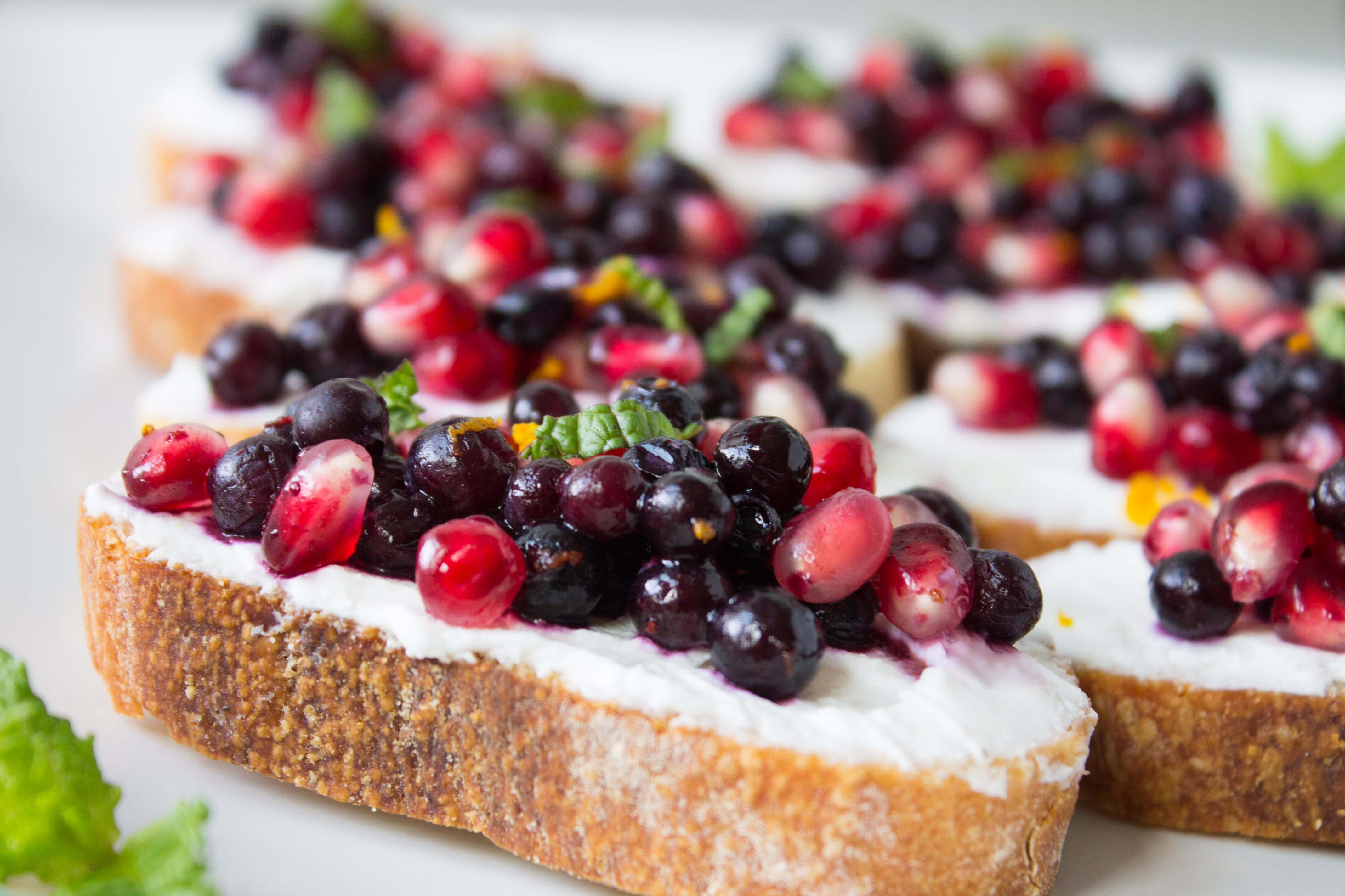 Wild Blueberry and Pomegranate Bruschetta Picture