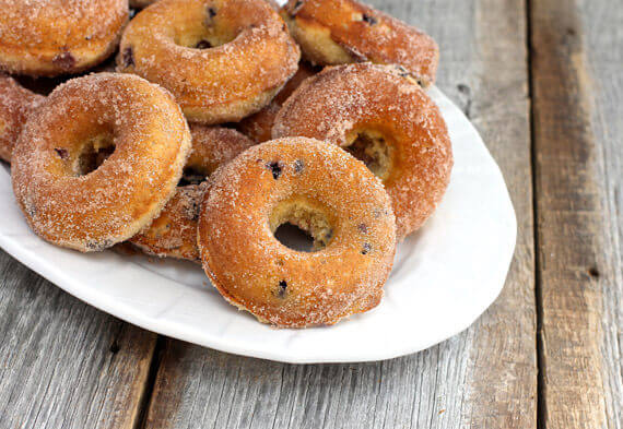 Wild Blueberry Baked Doughnuts Picture