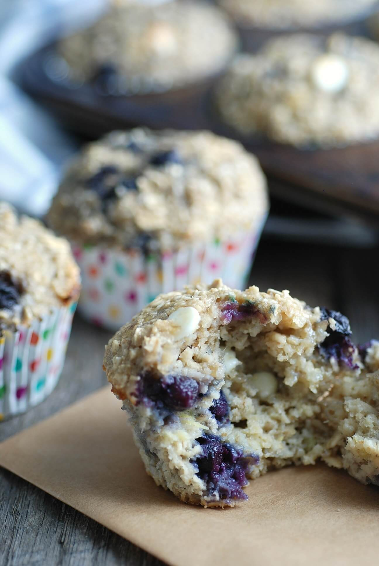 Gluten-Free Wild Blueberry & White Chocolate Oatmeal Cups Picture