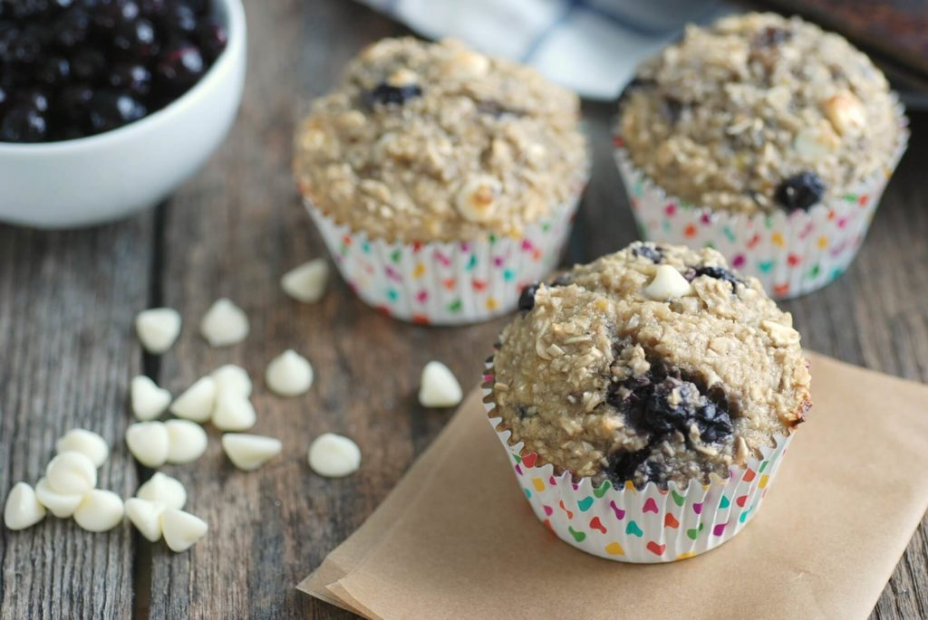 Gluten Free Wild Blueberry Amp White Chocolate Oatmeal Cups