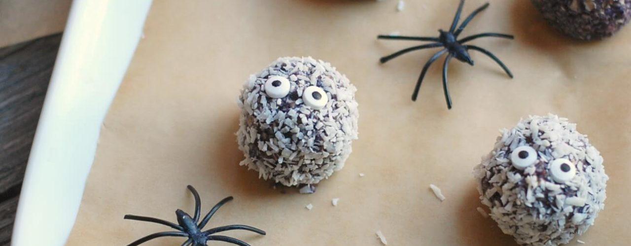 Spooky Wild Blueberry Boo-Berry Snack Balls