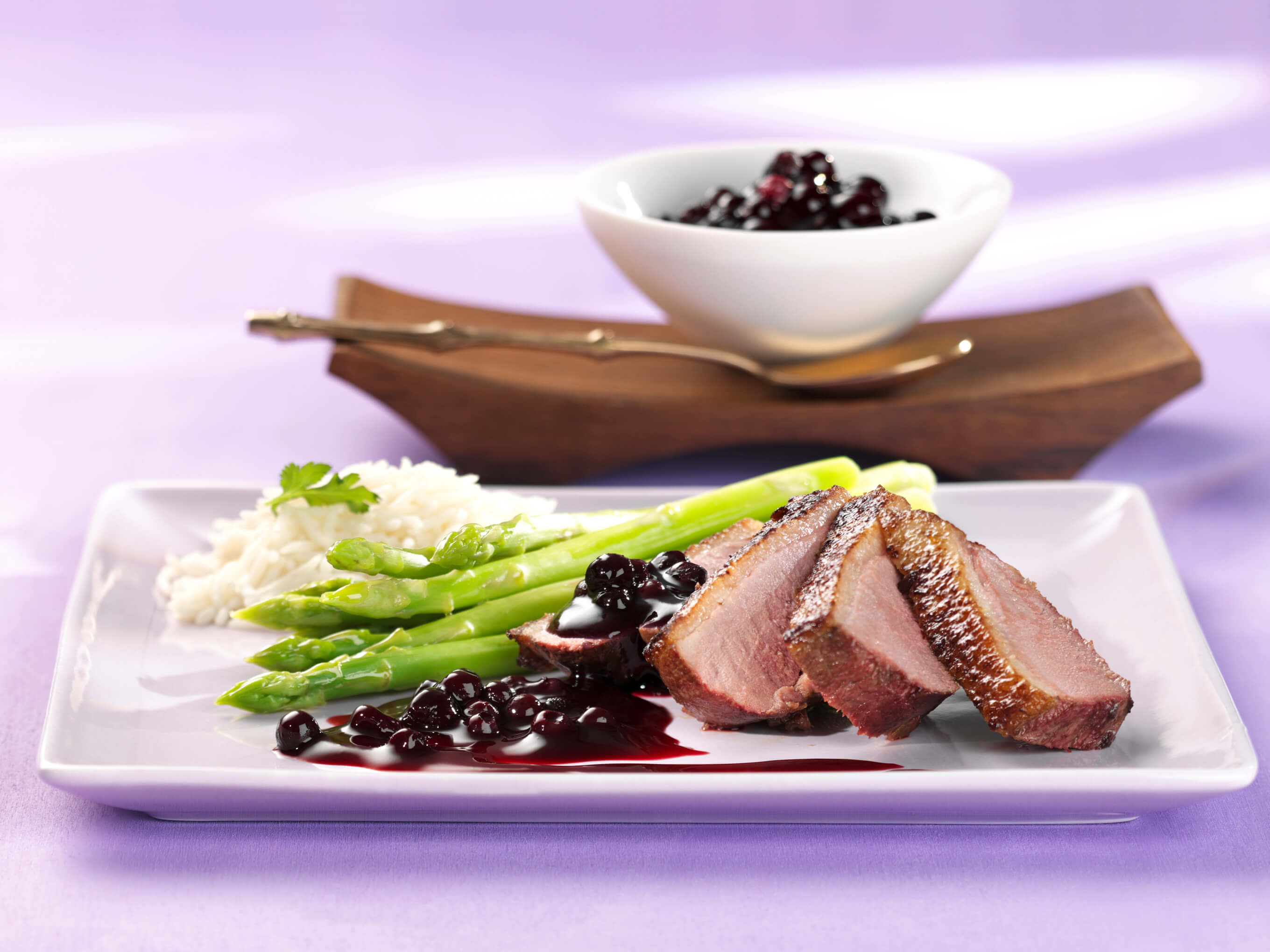 Smoked Duck Breast with Wild Blueberry Mostarda Picture