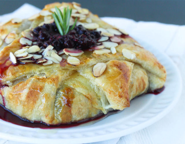 Wild Blueberry & Rosemary Stuffed Baked Brie