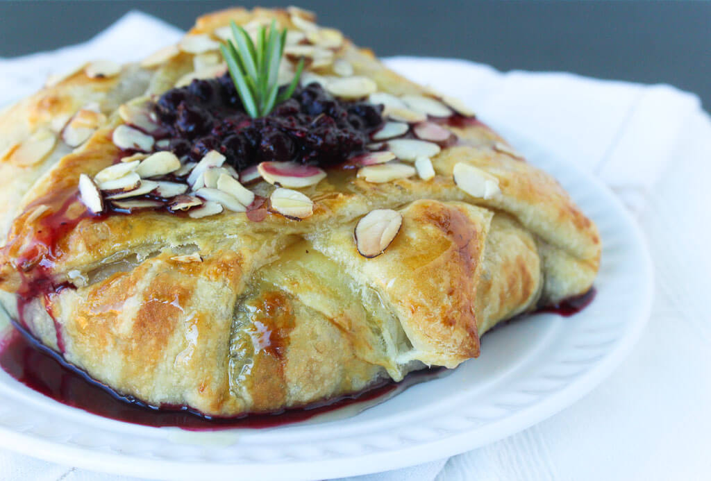 Wild Blueberry & Rosemary Stuffed Baked Brie Picture