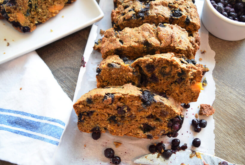 Wild Blueberry Sweet Potato Wheat Bread Picture