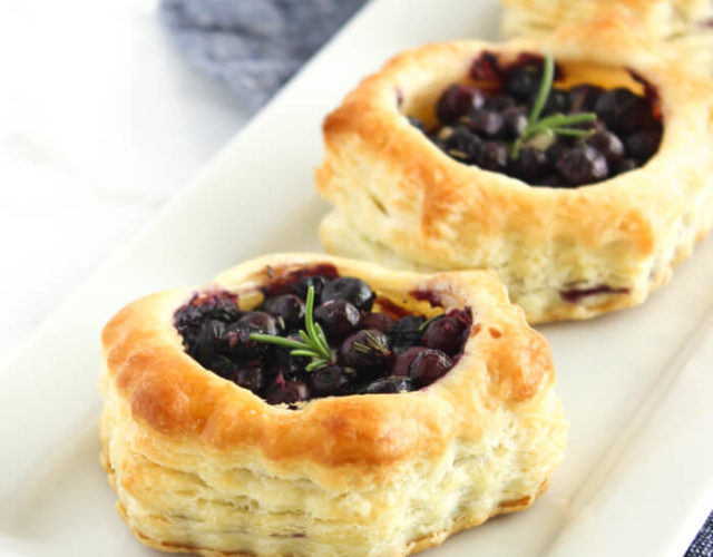 Wild Blueberry and Brie Puff Pastry Bites