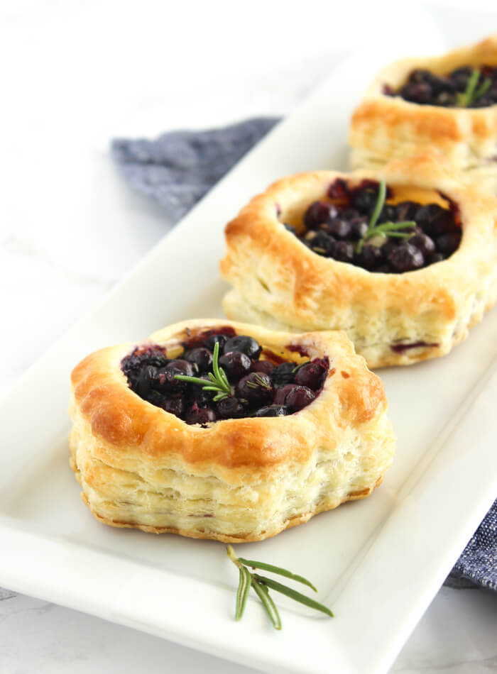 Wild Blueberry and Brie Puff Pastry Bites Picture